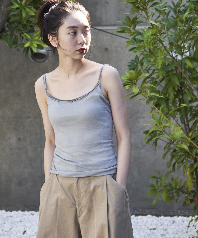 【MOON0910】ウォッシャブルカシミアTシャツ -Camiu- GRY