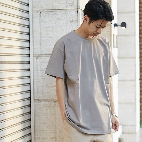 【ATON】手摘みコットン OVERSIZED T-SHIRTS 【BGE】