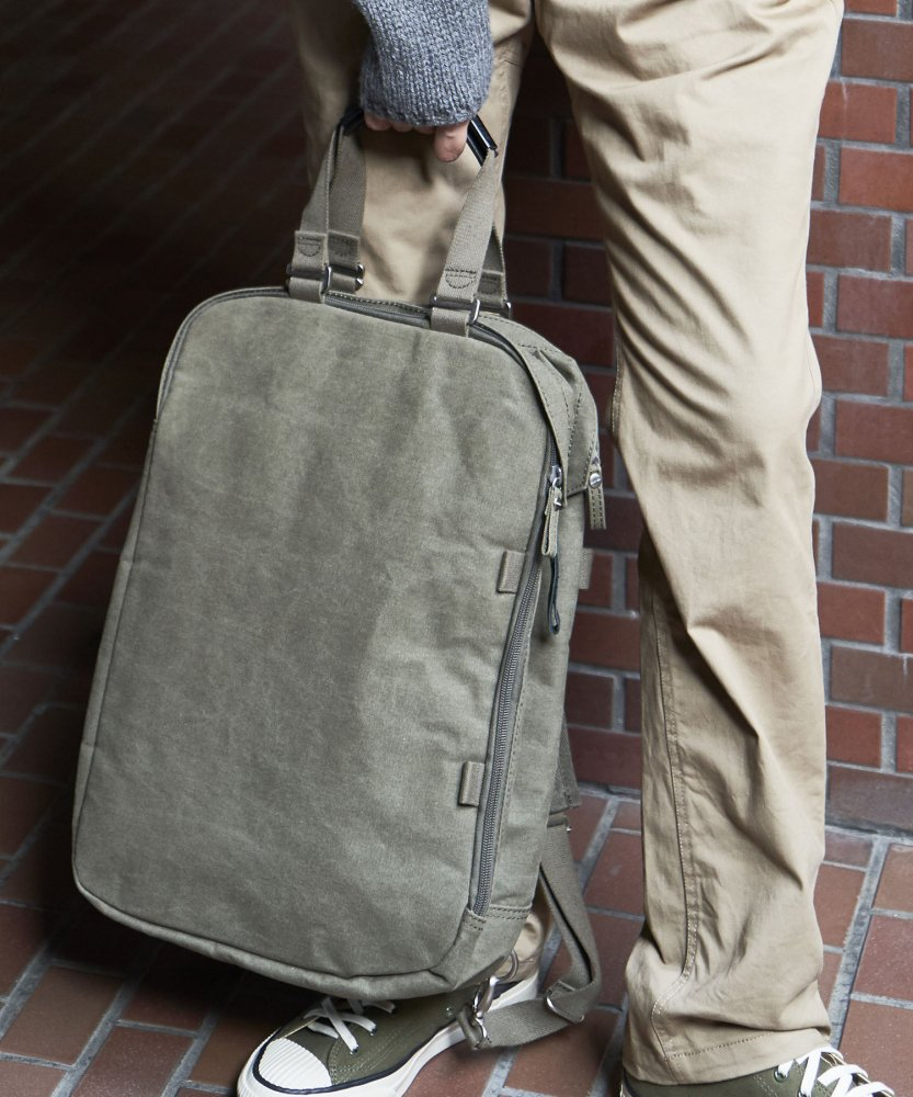 【QWSTION】Daypack  Organic Olive