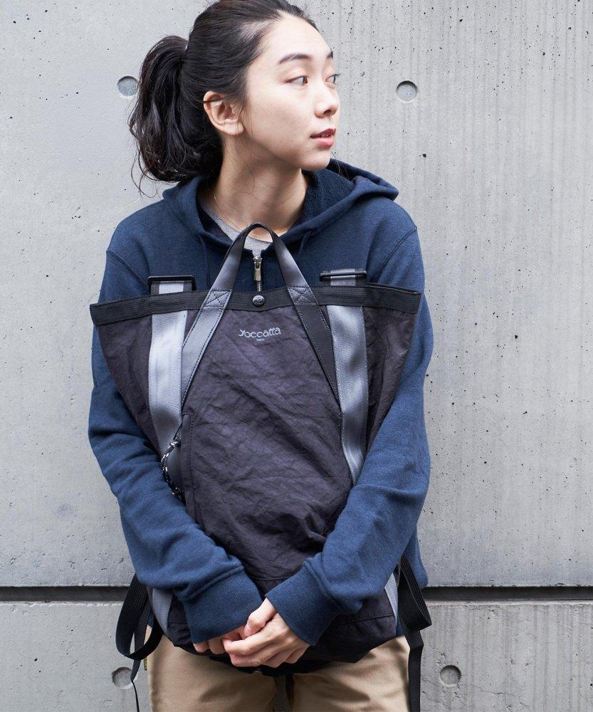 【yoccatta TOKYO】エアバック2wayバックパック BLACK (11月下旬お届け)