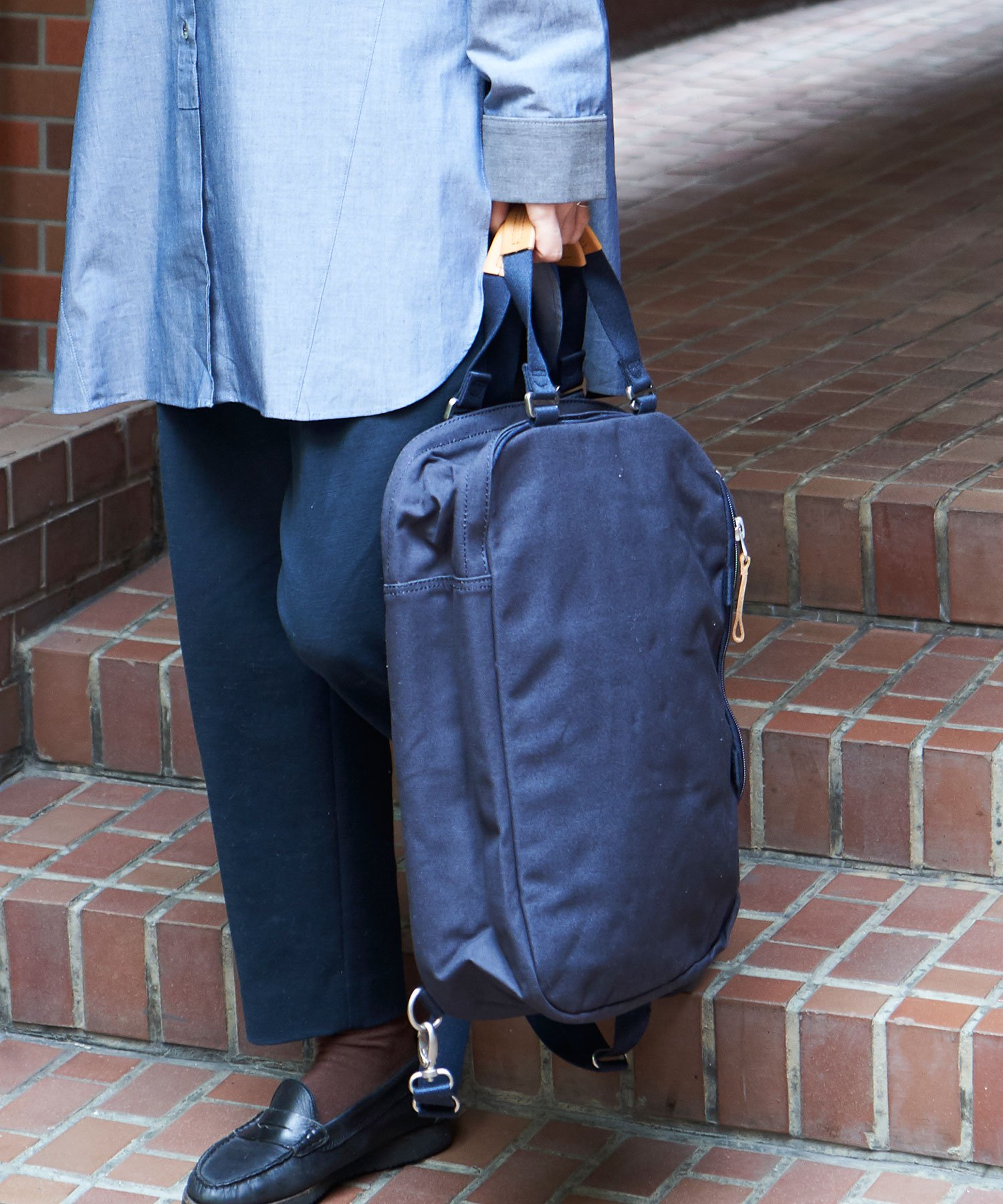 【QWSTION】Daypack Organic NVY