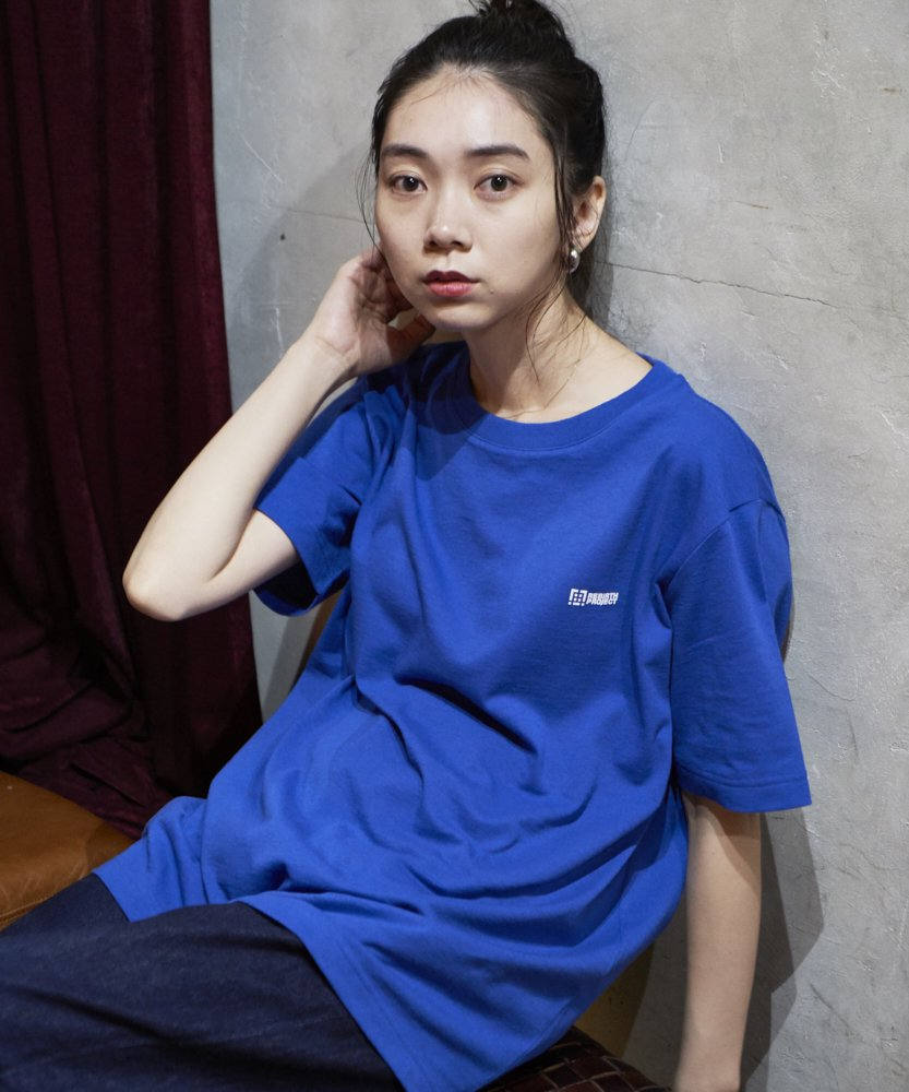 【REBIRTH PROJECT】RECOVER ロゴTシャツ BLU(2月上旬お届け)