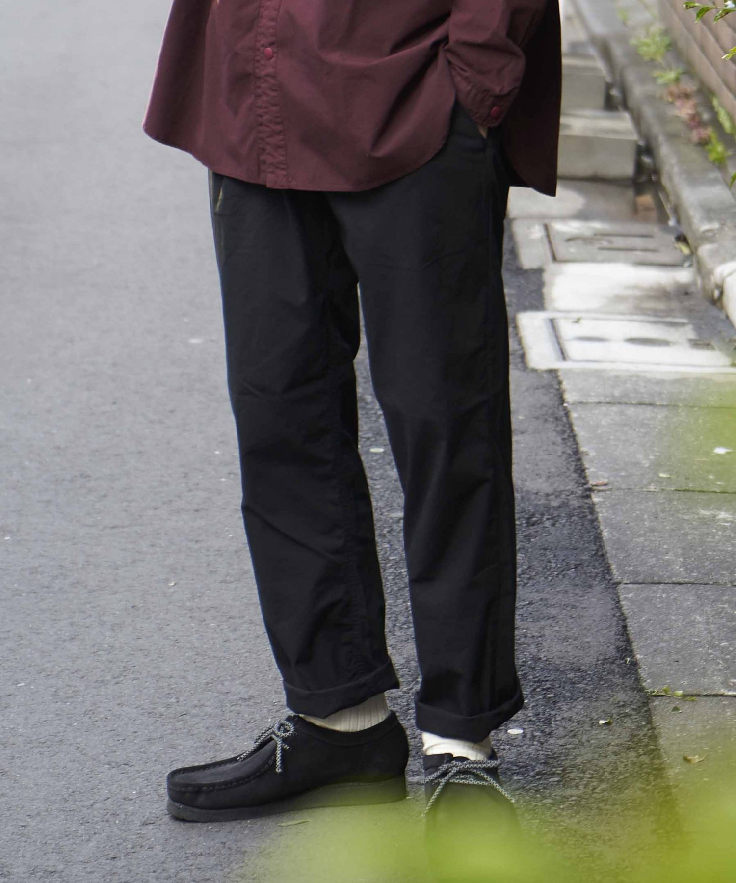 【REBIRTH PROJECT】オーガニックタイプライター イージースラックス BLK(2月下旬お届け)