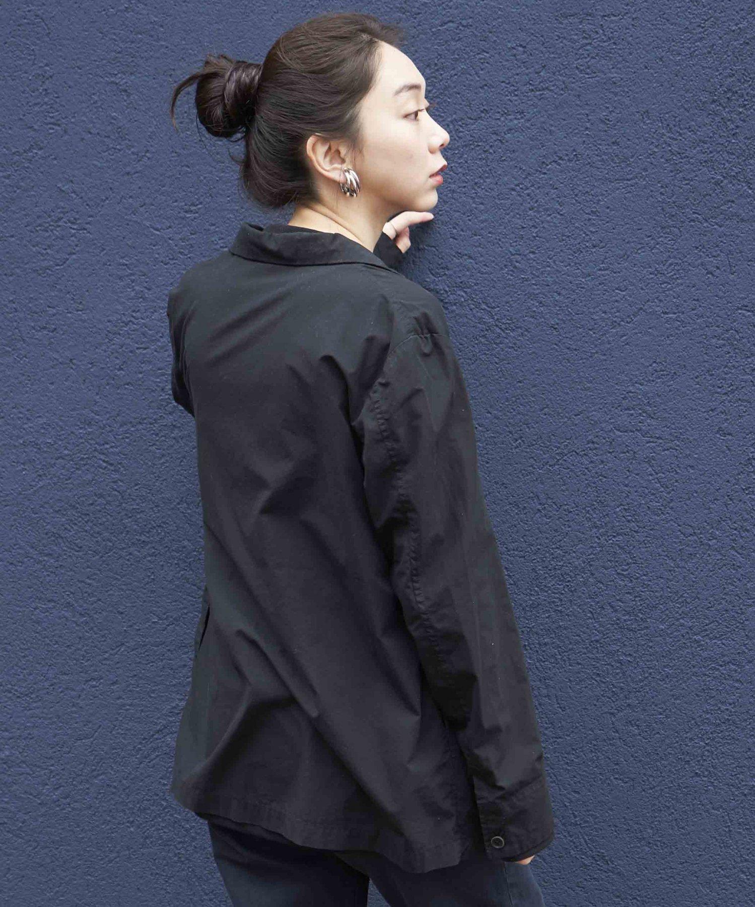 【REBIRTH PROJECT】オーガニックタイプライター ジャケット BLK(2月下旬お届け)