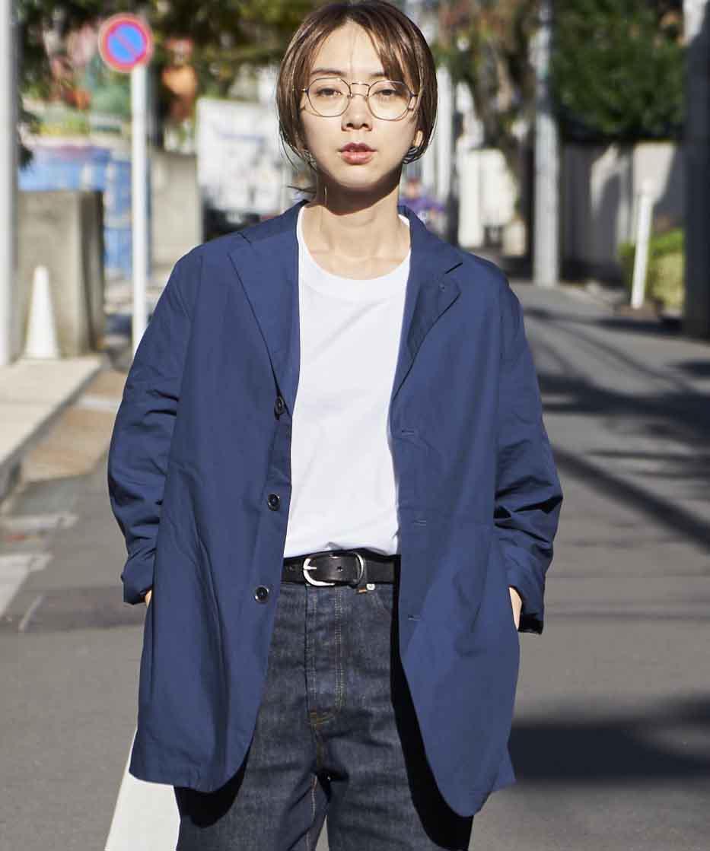 【REBIRTH PROJECT】オーガニックタイプライター ジャケット NVY(2月下旬お届け)