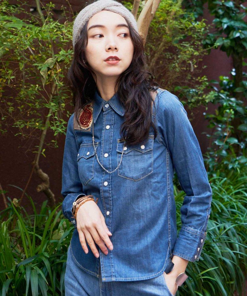 【REBIRTH PROJECT】INOCHIKA ワークシャツ NVY