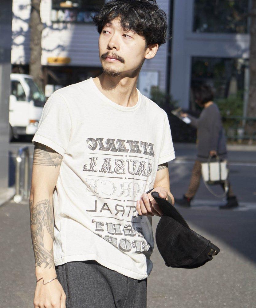 【PIED PIPER REBIRTH PROJECT】リサイクルコットン Tシャツ ETHERIC WHT