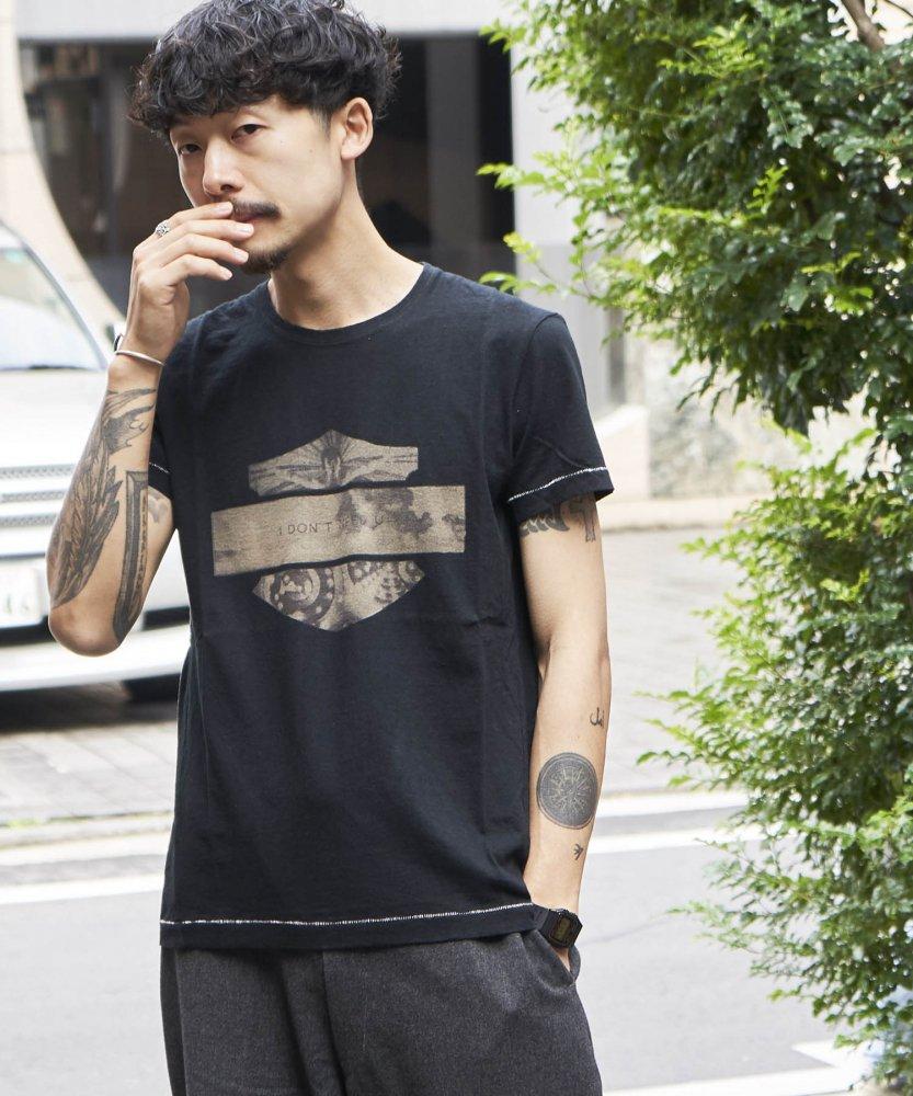【PIED PIPER REBIRTH PROJECT】オーガニックコットンTシャツ I DON'T NEED U BLK