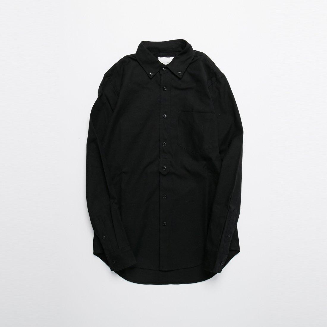 【PIED PIPER REBIRTH PROJECT】キャンバスボタンダウンシャツ BLK