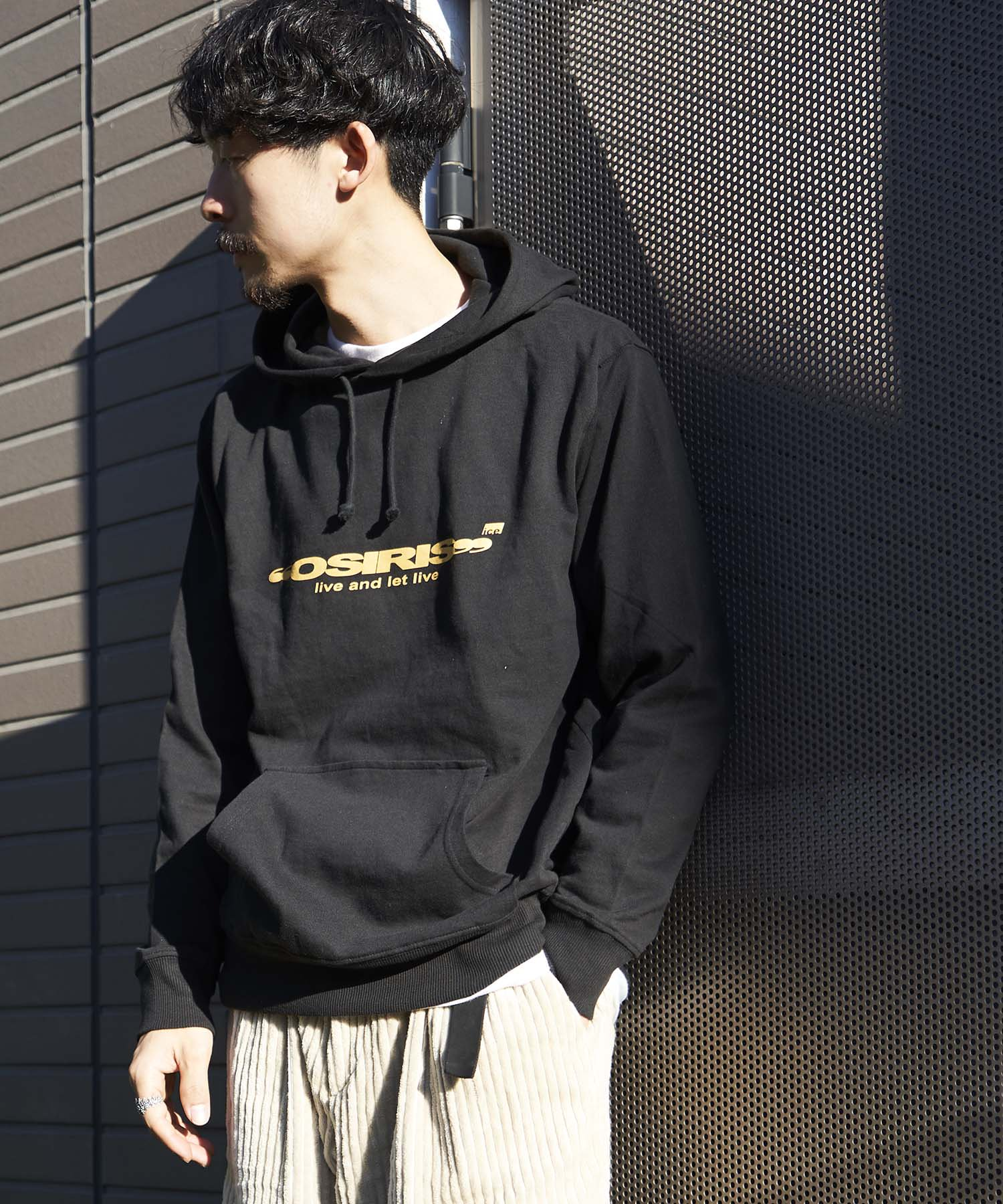 【REBIRTH PROJECT】iceoutfit別注ロゴプリントW4Bパーカー BLK(2月下旬お届け)