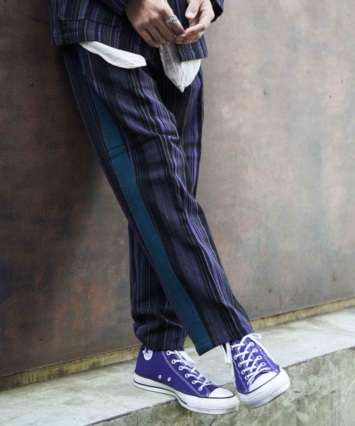 【wakami】Line pants BLK