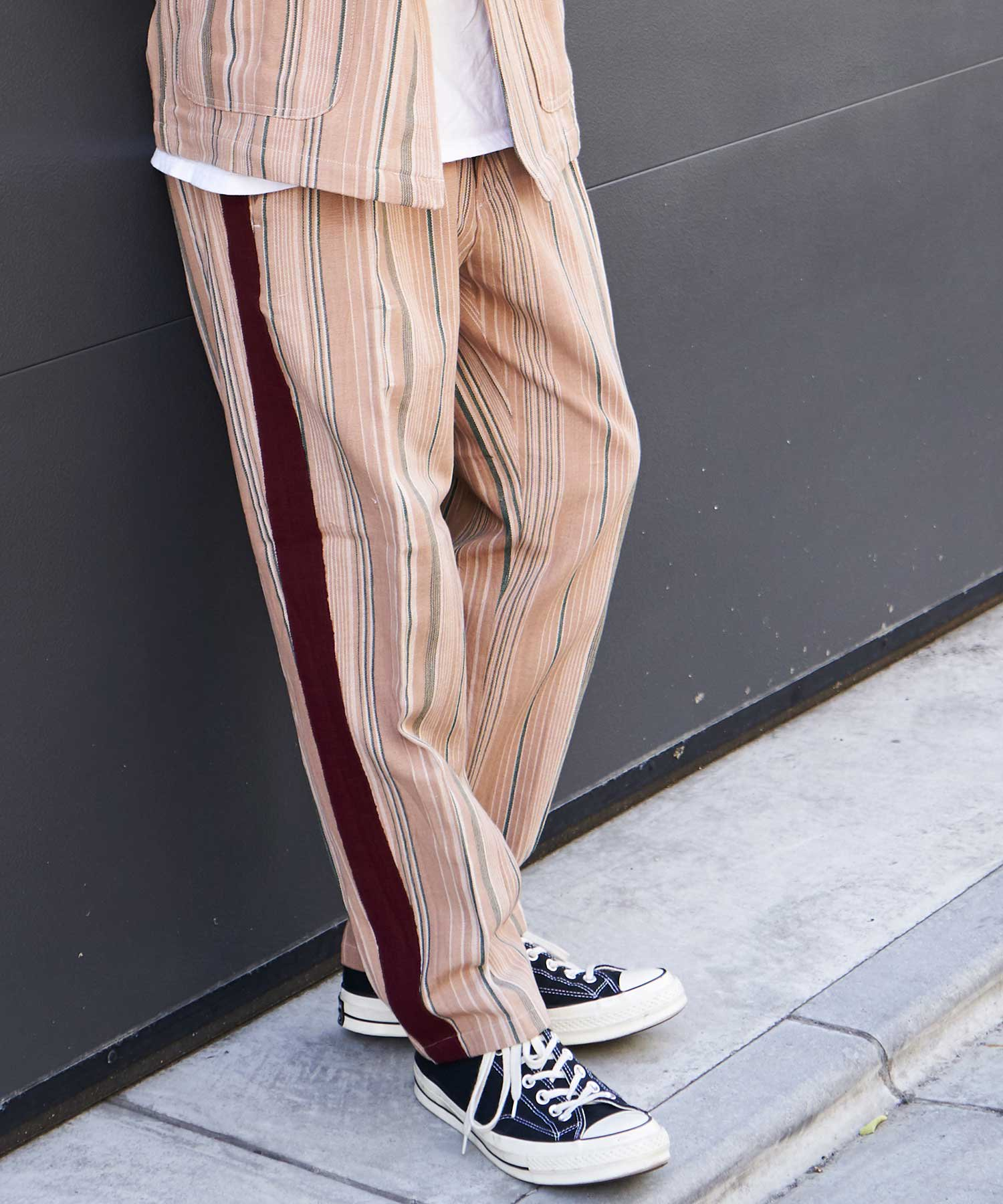 【wakami】Line pants BGE