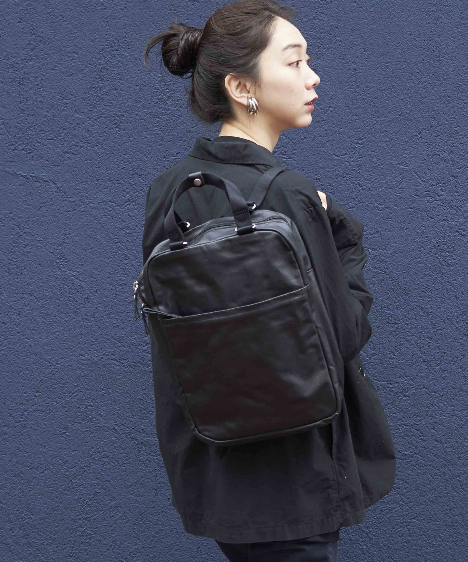 【QWSTION】Small Pack Organic Jet Black