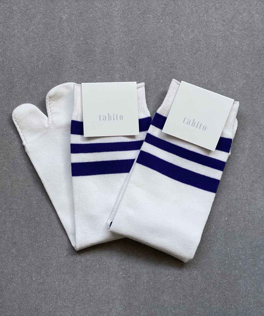 <img class='new_mark_img1' src='//img.shop-pro.jp/img/new/icons15.gif' style='border:none;display:inline;margin:0px;padding:0px;width:auto;' />【tabito】TABI BORDER SOCKS PPL(8月上旬お届け予定)