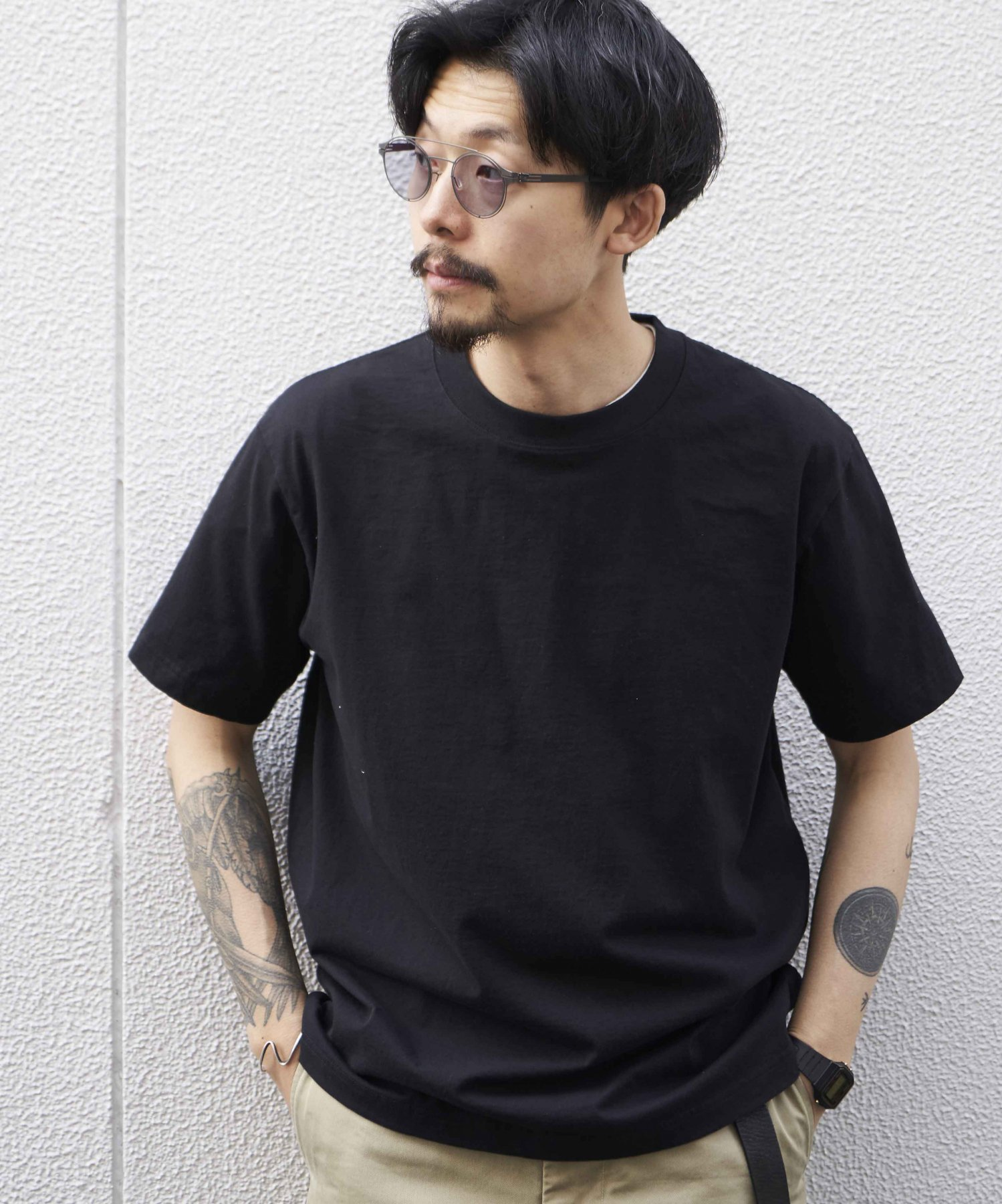 <img class='new_mark_img1' src='https://img.shop-pro.jp/img/new/icons15.gif' style='border:none;display:inline;margin:0px;padding:0px;width:auto;' />【REBIRTH PROJECT】SOUL COTTON T-shirt  BLK