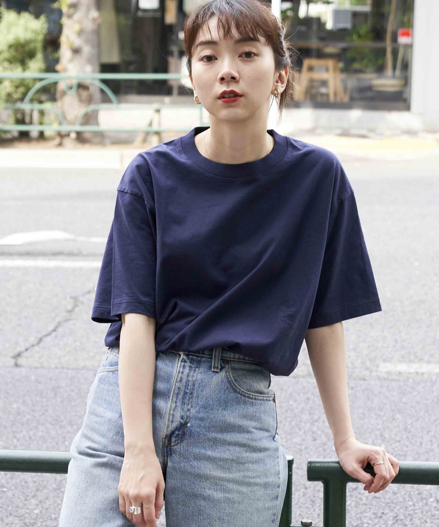 <img class='new_mark_img1' src='https://img.shop-pro.jp/img/new/icons15.gif' style='border:none;display:inline;margin:0px;padding:0px;width:auto;' />【REBIRTH PROJECT】SOUL COTTON T-shirt  NVY