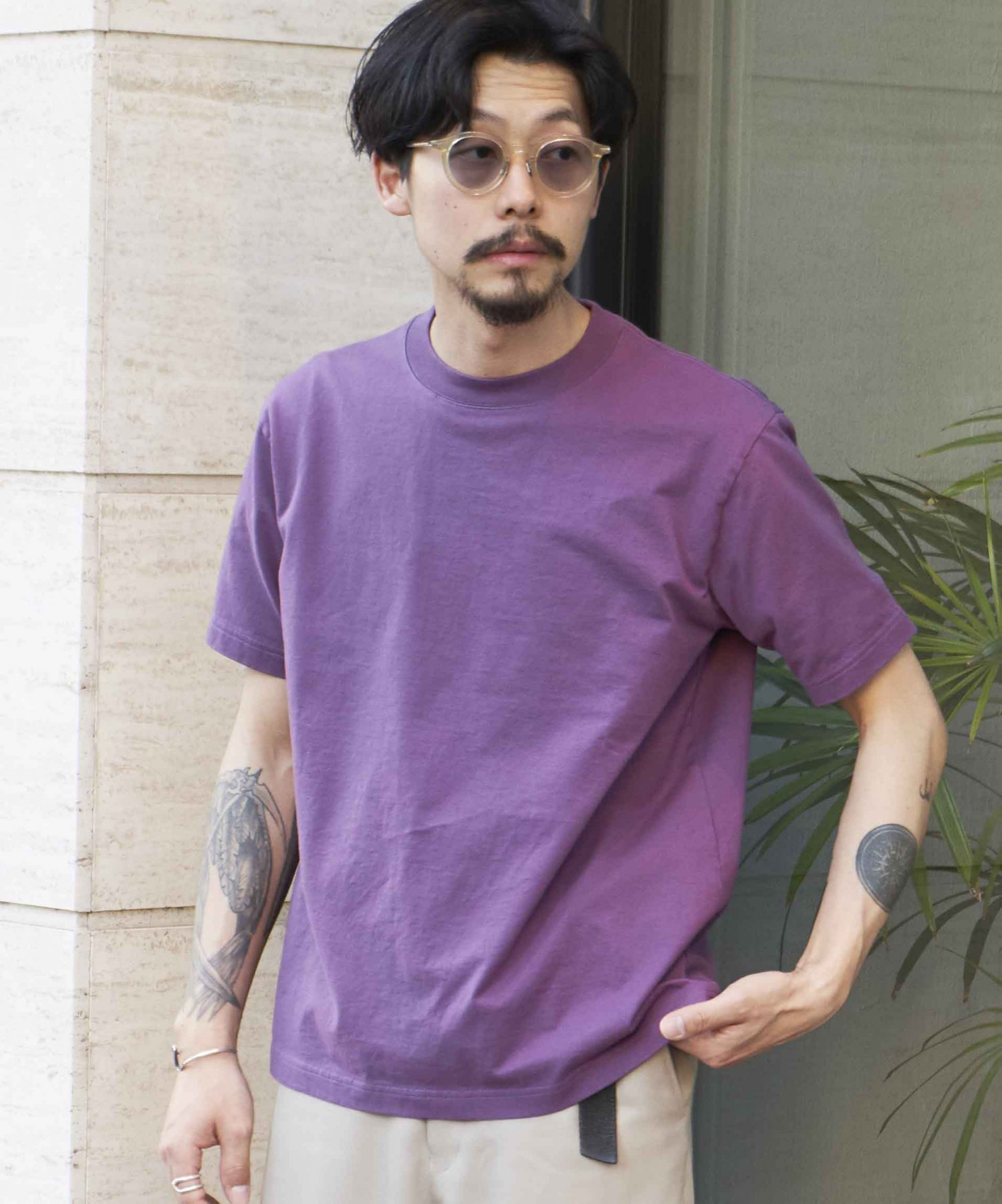 <img class='new_mark_img1' src='https://img.shop-pro.jp/img/new/icons20.gif' style='border:none;display:inline;margin:0px;padding:0px;width:auto;' /><20%OFF>【REBIRTH PROJECT】SOUL COTTON T-shirt  PPL