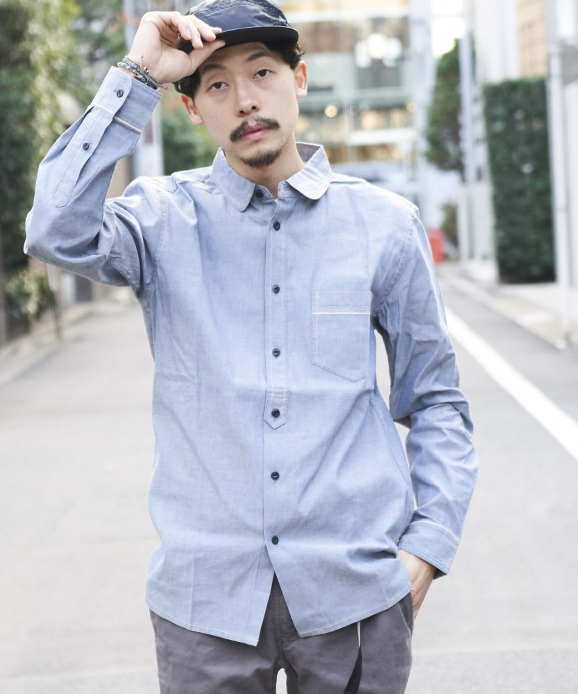 【PIED PIPER REBIRTH PROJECT】ラウンドカラーシャツ