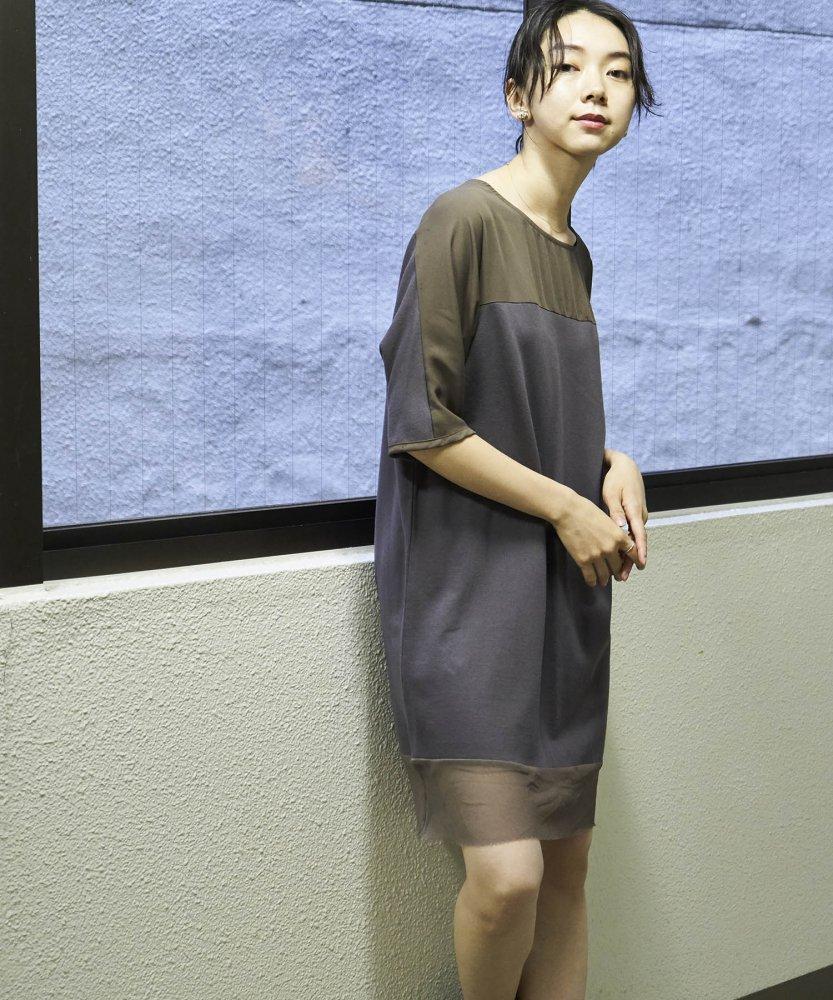 【REBIRTH PROJECT】OKIRAKU別注 オーガニックコットン切替ワンピース