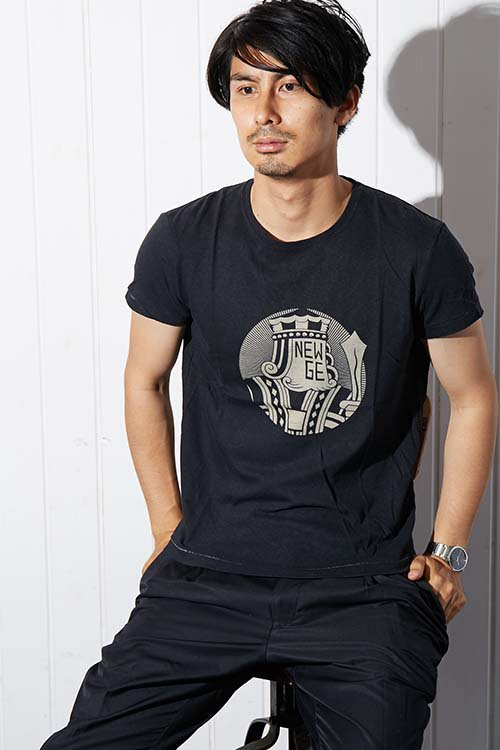 【PIED PIPER REBIRTH PROJECT】リサイクルコットンTシャツ ニューエイジフェイス