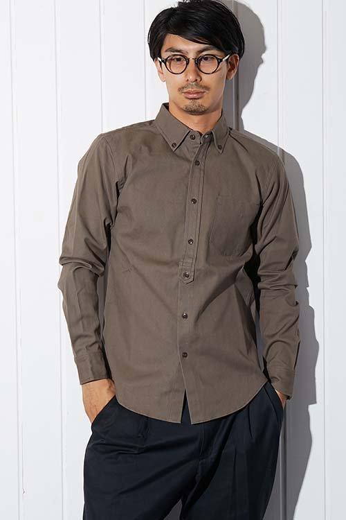 【PIED PIPER REBIRTH PROJECT】キャンバスボタンダウンシャツ