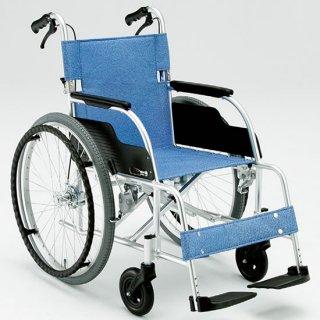 【松永製作所】ECO-201B アルミ製 自走介助兼用車椅子[介助ブレーキあり]