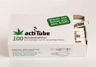 【Tuneチューンフィルター】 actitube(アクティチューブ)活性炭フィルター 100本入