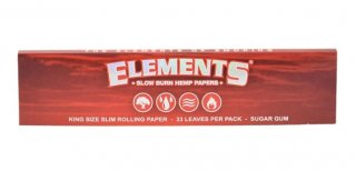 element  red king size slim   hemp paper