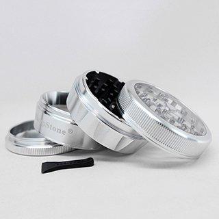 Sharpstone Grinder V2 Clear Top 4pc Silver Size 62mm-1004