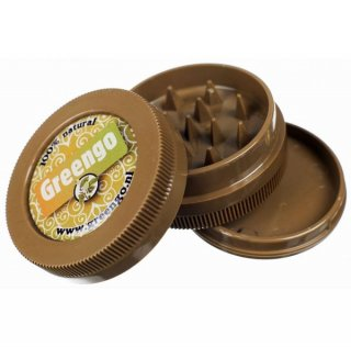 グラインダー Greengo' Plastic Grinder Brown 3part