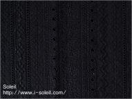 ローン ストライプ刺繍 ブラック