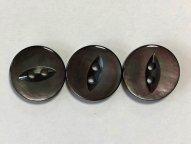 黒蝶貝ボタン ネコ目 15mm