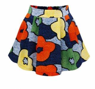 レトロポップな花柄♪フレアミニスカート