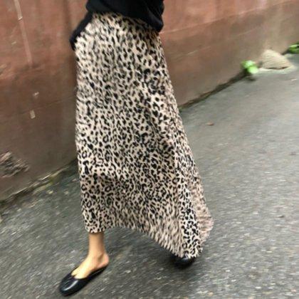 秋冬大注目 ポケット付き セミフレア レオパードスカート トレンド