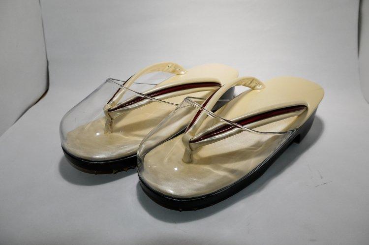 しぐればき メタパール 女雨用草履 ピンクベージュ119939717