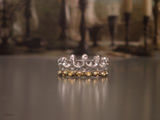 Milk Crown Ring <br>ミルククラウン リング<br> (with Diamond )<br>