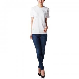 Tシャツ(鹿刺繍)ホワイト