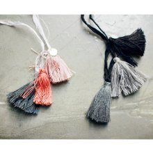 Le Mazet necklace<br>マゼットネックレス<br>Orange/Black gray tone<br>『Bien a Bien』 <br>(ビアンナビアン)<br>16SS