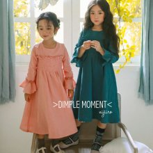 ジュテームスモークワンピース<br>Je T Aime Smoke Dress<br>Green/Pink<br>『Dimplemoment』 <br>16FW