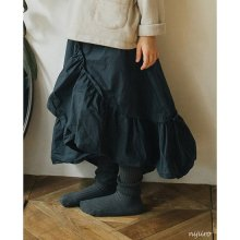 Raffle cancan skirt<br>Deep navy<br>『piccola su』 <br>16FW<br>定価<s>3,400円</s> <b>20%Off</b>
