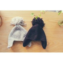 ビッグタッセルハット<br>Big tassel hat<br>Beige/Wine<br>『Claudine』 <br>16FW