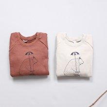 くまさんトレーナー<br>Bears sweat shirt<br>Oatmeal/Lenga<br>『nijiiro select』 <br>16FW
