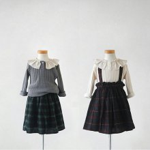 Check skirt<br>Wine/Green<br>『Lune』 <br>16FW<br>定価<s>3,700円</s> <b>20%Off</b>