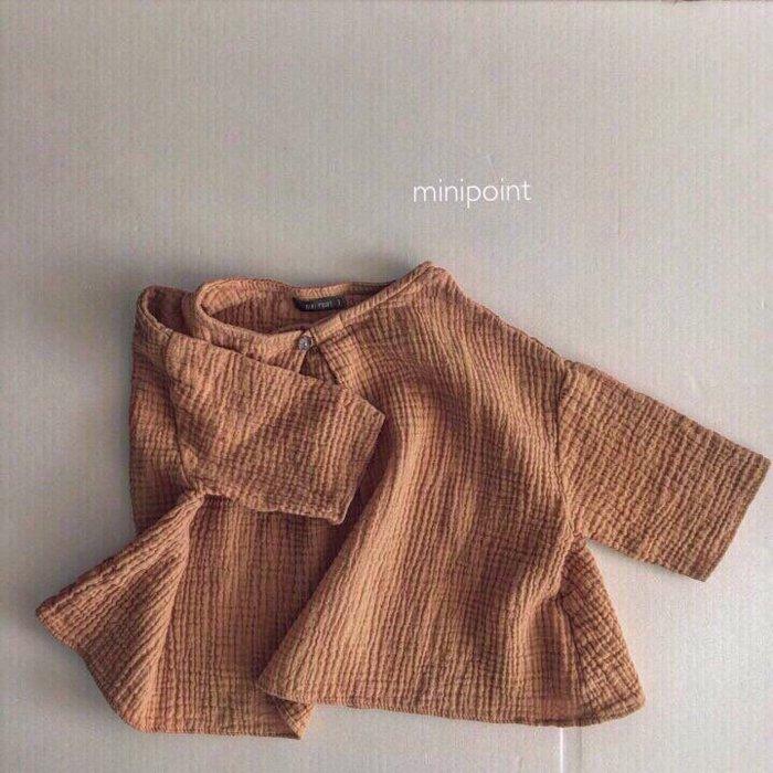 ボタンブラウスButton blouseOrange『mini point』17SS