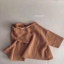 ボタンブラウス<br>Button blouse<br>Orange<br>『mini point』<br>17SS