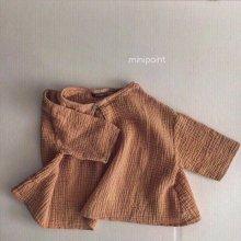 ボタンブラウス<br>Button blouse<br>Orange<br>『mini point』<br>17SS