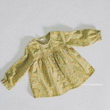 フラワースモッキングブラウス<br>Flower Smocking Blouse<br>Yellow<br>『salon de Jue』<br>17SS