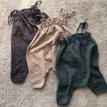 コットンジャンプスーツ/Cotton jumpsuit<br>Charcoal/Beige/Green<br>『marvi』<br>17SS<Charcoal/XS>