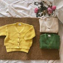 Hey cardigan<br>ivory/yellow/green<br>『Ojo de papa』<br>17SS