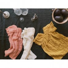 smoothie-one-piece/スムージーワンピース<br>ivory/peach/mustard<br>『ojo de papa』<br>17SS